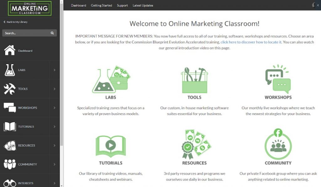 Online Marketing Classroom Warranty List